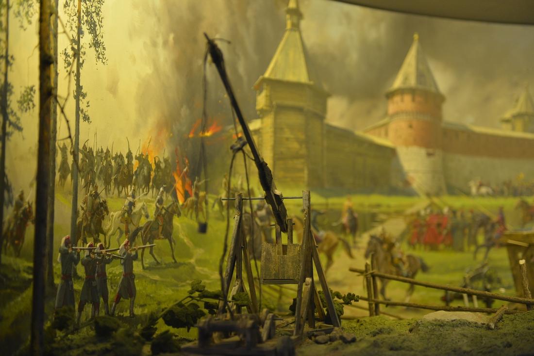 Осада Тульского кремля войском Девлет Гирея - макет диорамы: ФОТО