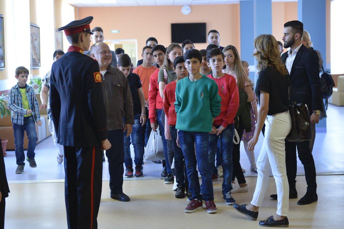 Дети из Сирии в Суворовском училище: ФОТО