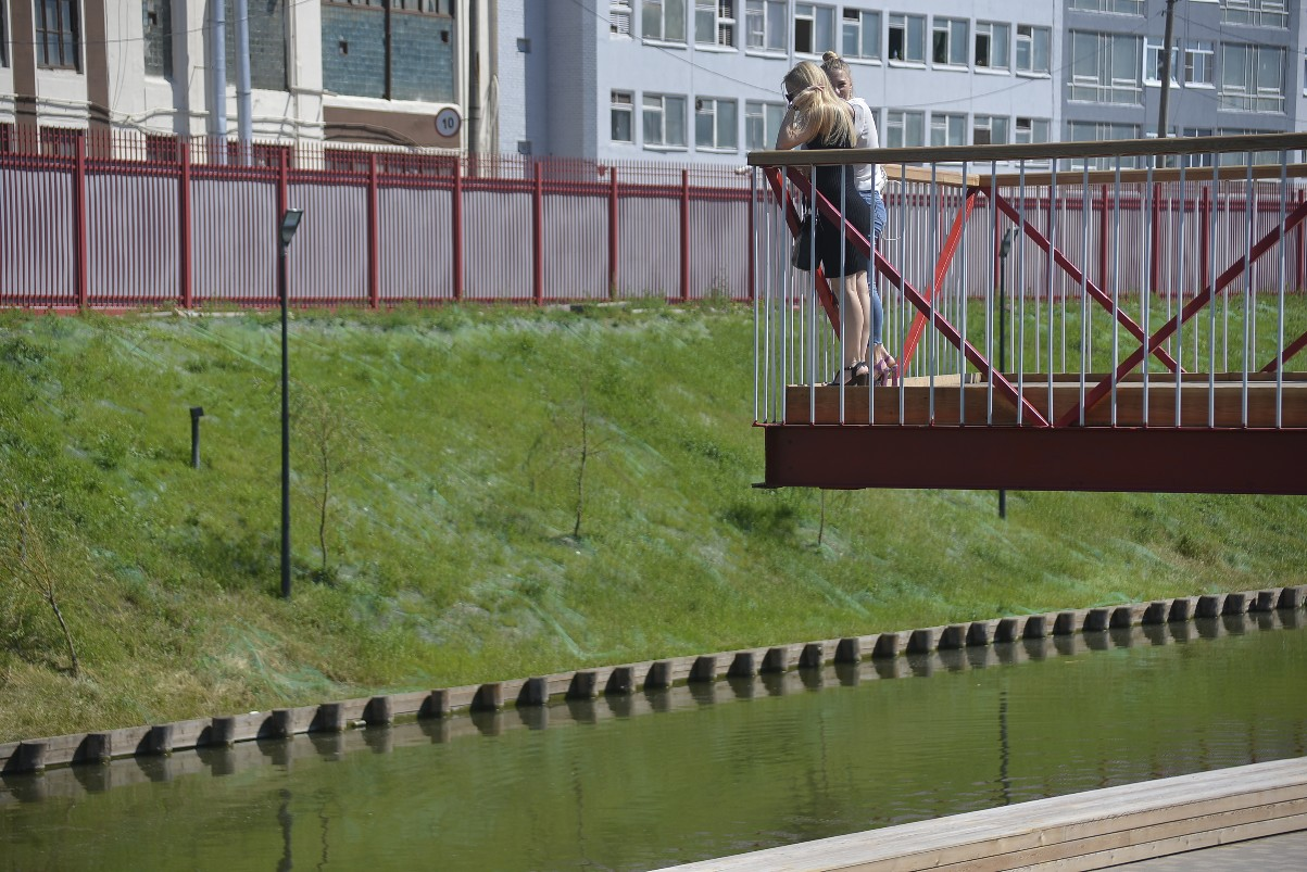 Тульская Набережная открыта для пешеходов: ФОТО