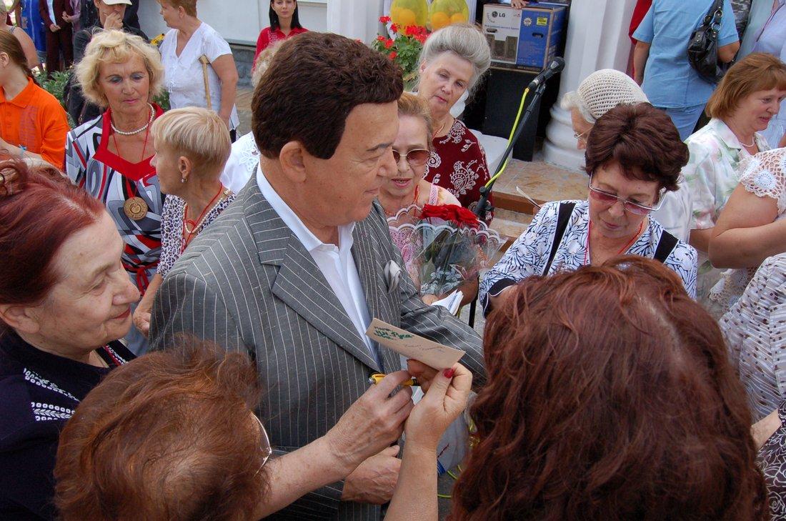 Иосиф Кобзон в Яснополянском детском доме, 2008 год: ФОТО
