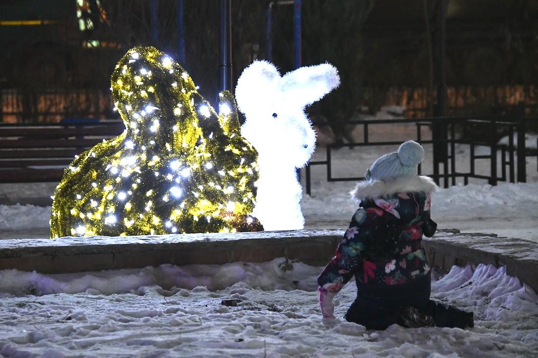 Новогодие украшения Кировского и Болдинского скверов: ФОТО