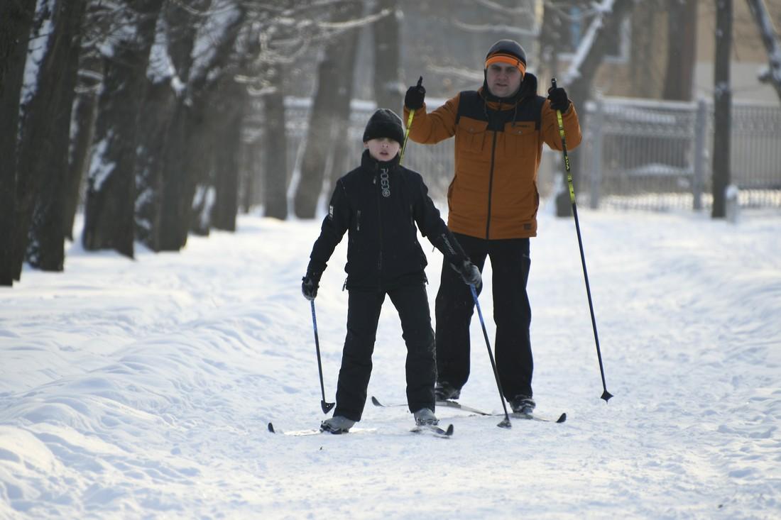 Прогулка в зимнем парке