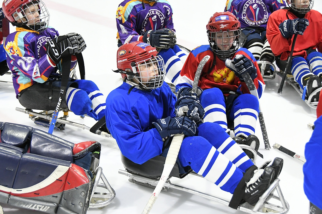 Детский следж-хоккей: ФОТО