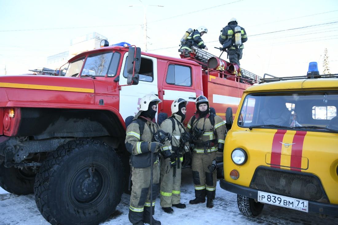 Учения пожарных и спасателей в цирке: ФОТО