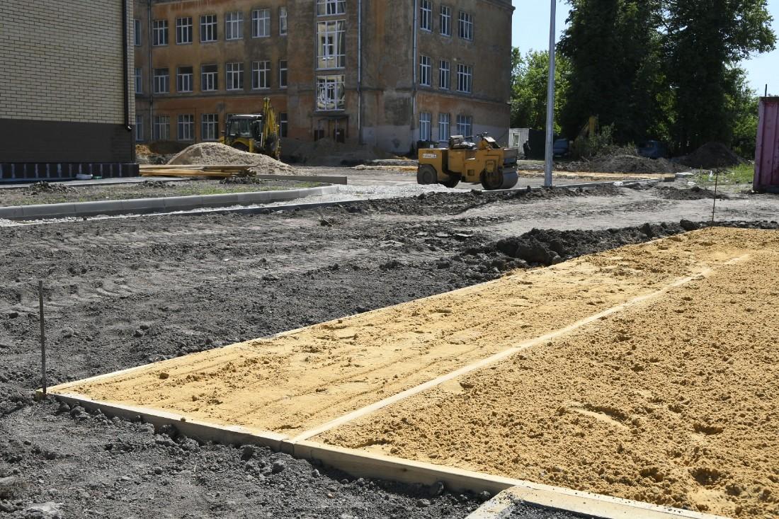 Строительство нового корпуса центра образования №4: ФОТО