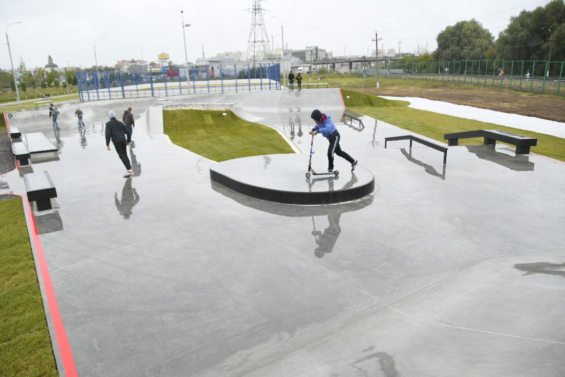 Новый скейтпарк: ФОТО