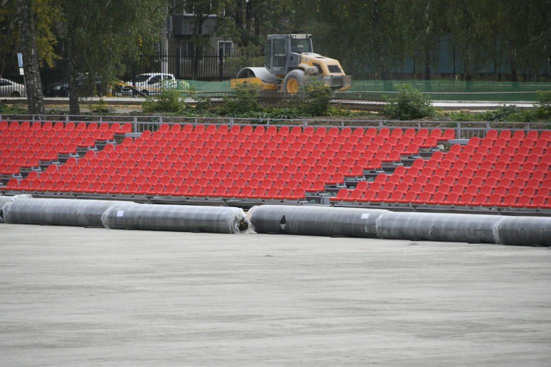Строительство новых объектов на стадионе: ФОТО