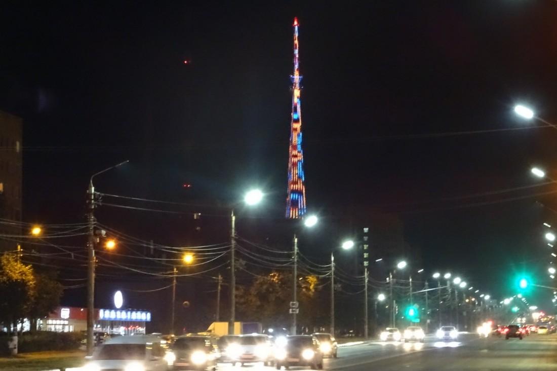 Подсветка телебашни: ФОТО