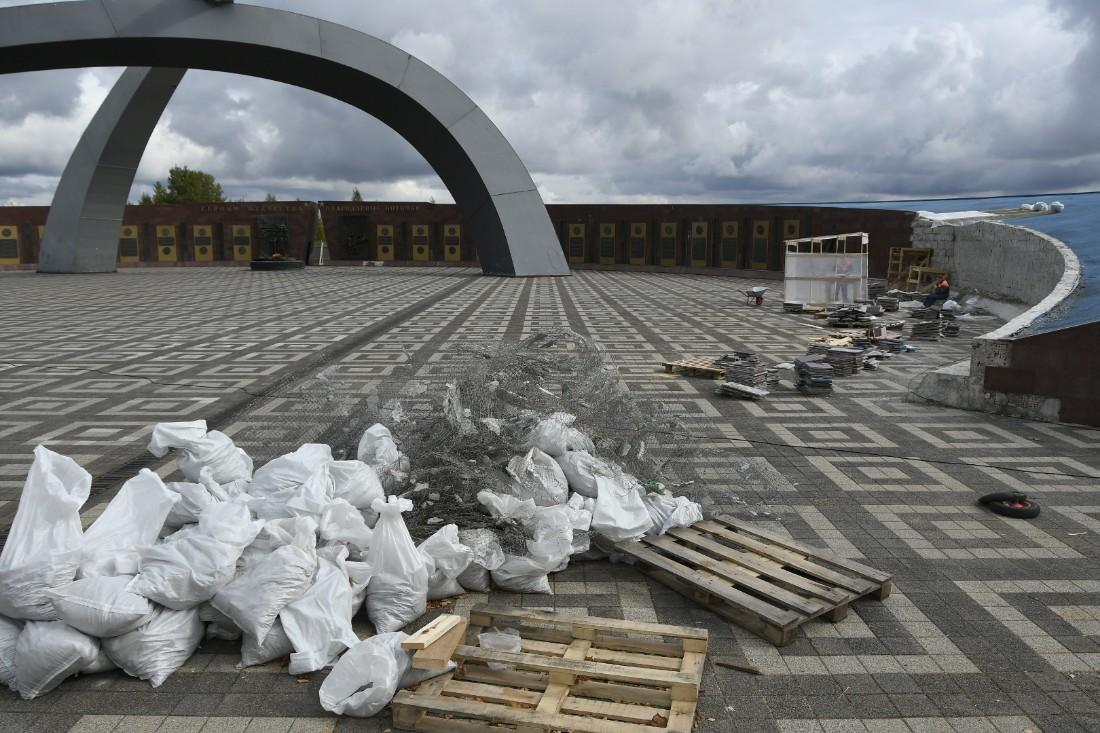 "Мемориал ""Защитникам неба Отечества"" закрыли на ремонт: ФОТО"